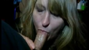 Queen milf Sucks me dry homemade blowjob