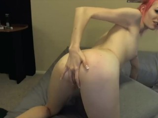 Pink-Haired Cutie Fucks Doggystyle And Gets Huge Cum Facial