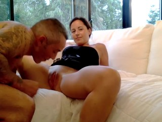 Cateyes gets DP with her sex friend and her dildo