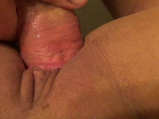 Filling her with Cum