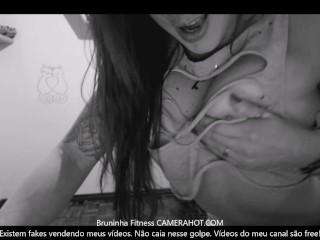 Fitness red head model shaking anus at the mirror – Inexperienced teen brazilian anus