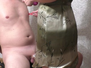 Two ruined orgasm after week in chastity, that is your reward! (FEMDOM)