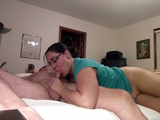 Milf Becky Tailor sucks and rides that dick before bedtime....