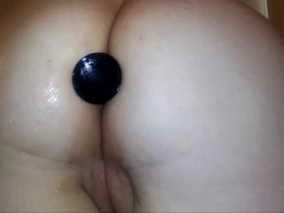 Danielle tries ALL SIZES of her ass plugs! PAINFUL anal training!!!