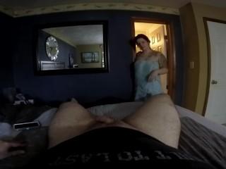 Camgirl/cock boyfriend sucks while gaberiella