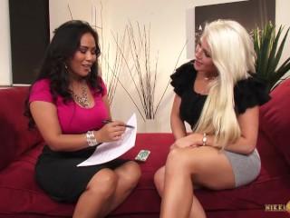 Nikki Phoenix with girlfriend Jessica Bangkok