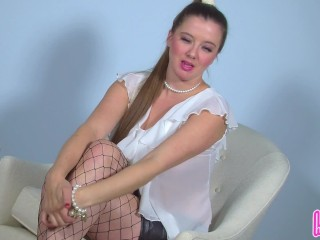 Humiliatrix Governess Becky LeSabre Prepares You for Your First Spanking