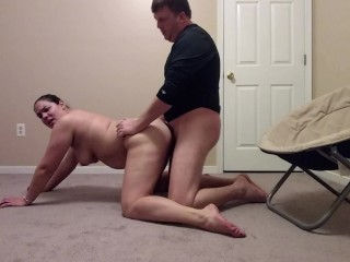 Amateur couple leaves party for some fucking in his brand new office....