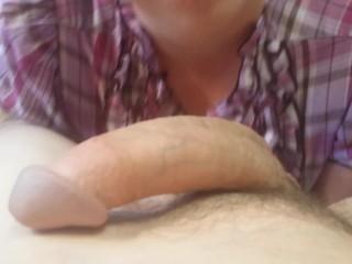 COUNTRY GIRL TITFUCK BLOWJOB AND CUM IN THROAT! BIG TITS DEEPTHROAT POV