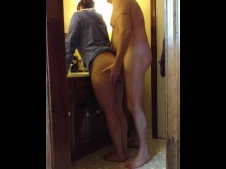 Sexy hidden cam bathroom fuck....