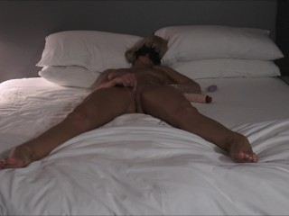 HOT TANNED AMATEUR WIFE MASTURBATES & TAKES HER TIME VERY HOT