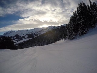 Hot/mountain neige public snowboard