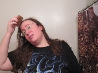 Fetish/curly hair strawberry asmr