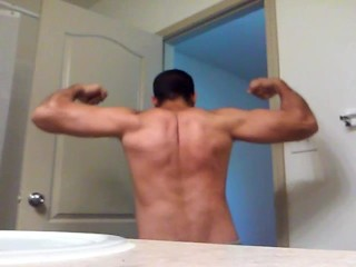 Flexing and Jerking Off