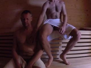 Grandpa/fucks bareback daddy older