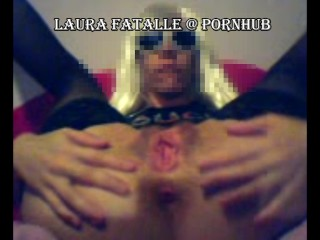 Horny step sister squirting orgasm fucking both holes - Laura Fatalle