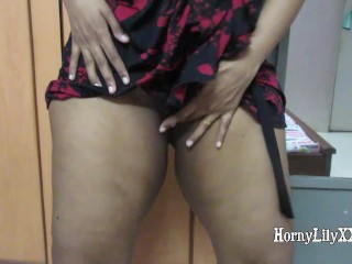 Short clip of me bending over, showing my slippery hole juices