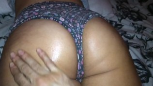 Big booty latina getting oiled up ready to fuck!