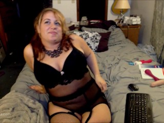 Garter, Stockings, and Big Tit Play