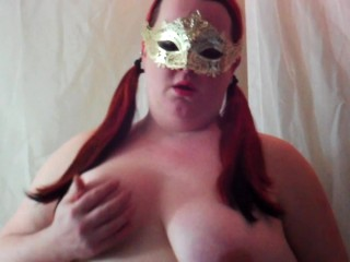 Chubby wife gives husband blowjob and shoots his load on her tits