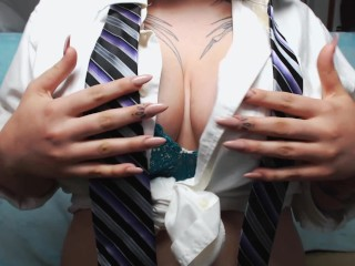 Long Nails and neckties JOI - Jerk off instructions with Gabby Monroe