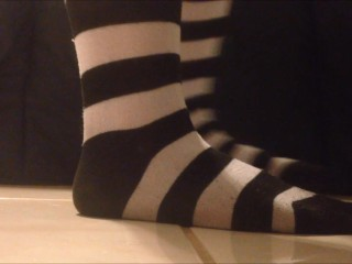 Alexandra/white and presenting black striped