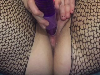 Phat Pussy Squirting on Toy