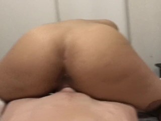 Hot Russian Blonde Rides hard Australian cock reverse cowgirl style (Tease)