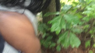 bbw ebony i met while taking a run. Fucked on trail