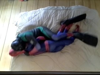 evil scuba spider dominates humps and cums with dummy spider
