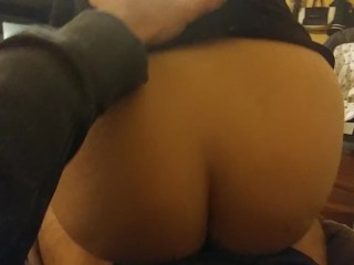 Bouncing Her Phat Ass Until It Gets Covered In Cum