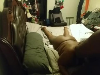 Quiet sex with people in the house and a vaginal creampie