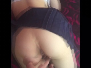 Tight School Girl Gets Hard Doggy Style Pounding