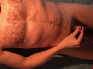 smoking and stroking soft cock trying to get hard and finally cum