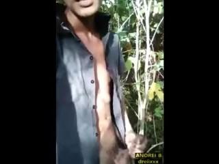 Outdoor Jerk Off, Dirty Talk, and Cum Tasting