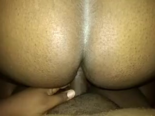 Intense doggystyle creampie in my wife's pregnant pussy