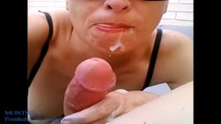 My inocent sister sucks and taste cum for the first time (POV)