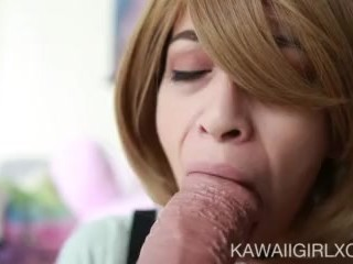 Tight Young Pussy Gets Filled To The Max With Huge BBC Dildo