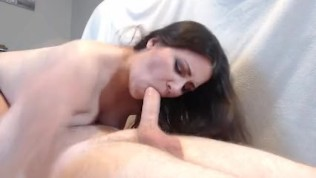 OOPS THE CUM DRIPPED OUT ~ CLOSE UP 69 BLOWJOB NO HANDS WITH CUM IN MOUTH