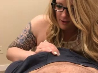 Nerdy Blonde Teen Sucks and Licks Ass until Cumshot