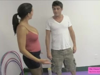 earn a blowjob from a dom (ballbusting blowjob)