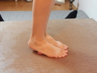 The Adult Video Experience Presents Crush my cock with barefeet and sandals with verbal humiliation and cumshot