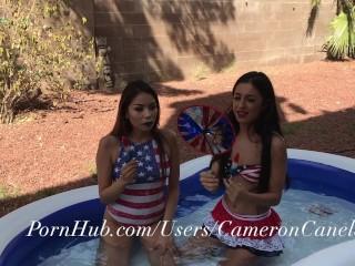 Teens Caught By Neighbor Having Sex In Backyard Pool