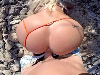 Tremendous CreamPie after POV Intercourse, Bikini Kayaking to outside public seashore!