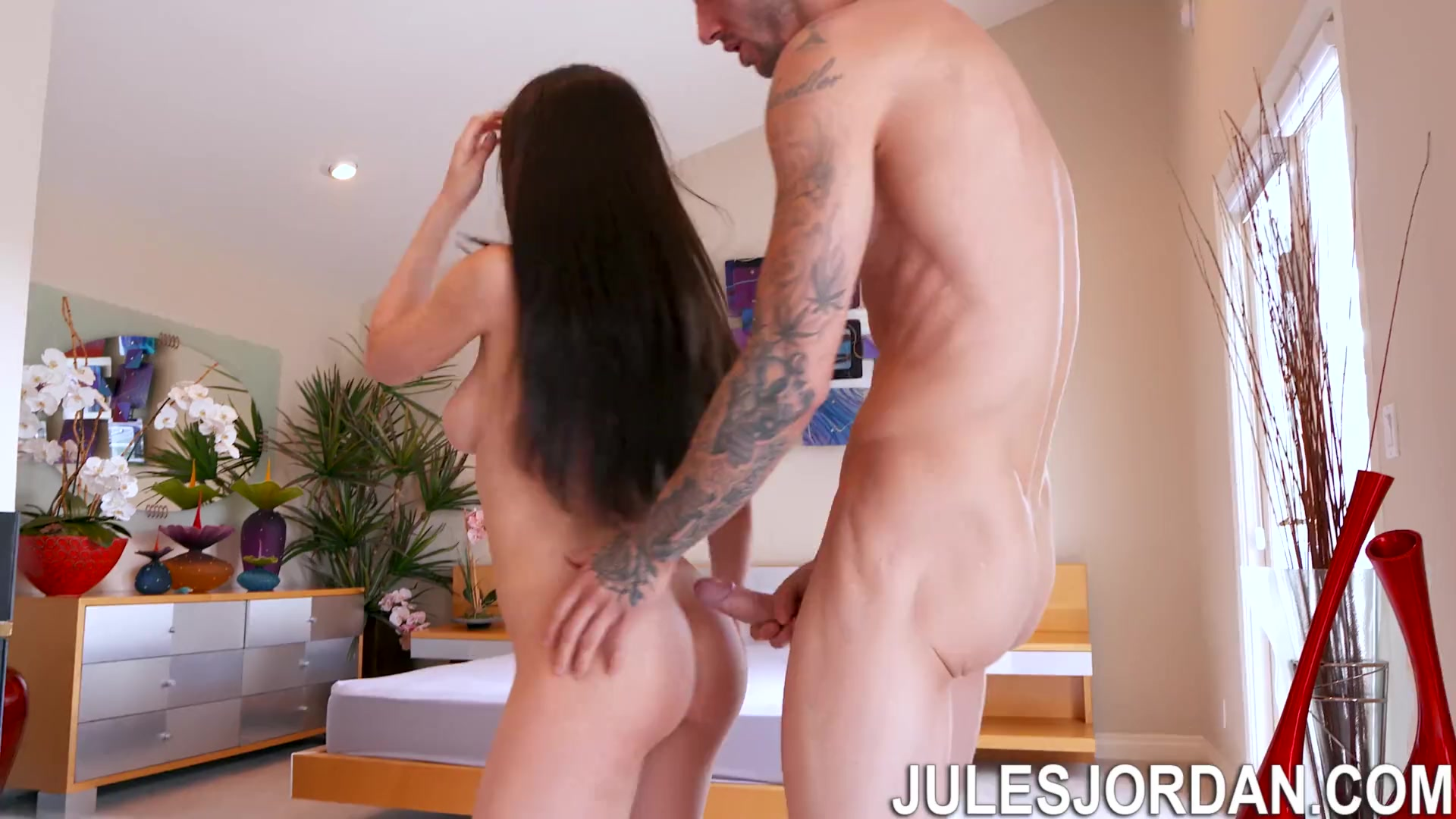 Jules Jordan - Lana Rhoades 19 Year Old Busty Teen Gets Covered In Cream