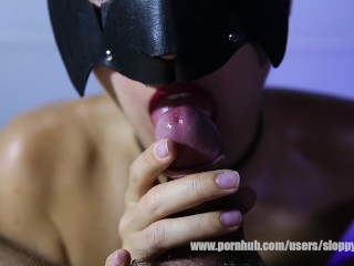 Oral pleasure with tongue, lips and tits from MurMur
