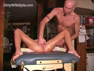 Slut wife fingered fisted and made to squirt with full body orgasms