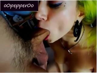 Live BlowJob and Facial for o0Pepper0o