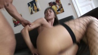 Step dad fucks tiny hot young daughter in her ass and she swallows cum load