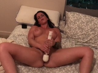 My fitness girlfriend squirts and takes a toy in the ass. Insane